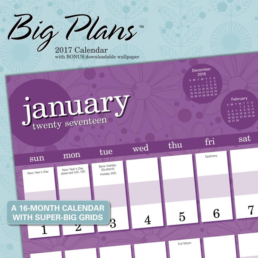 Big Plans Wall Calendar