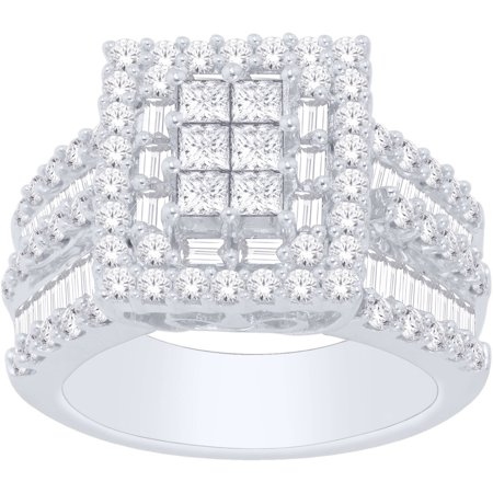 3 Carat T.W. Diamond 14kt White Gold Multi-Stone Fashion Ring