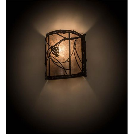 Meyda 177793 9 In Whispering Pines Wall Sconce 44 Timeless Bronze Silver Mica Rustic Lodge Nouveau Walmart Canada