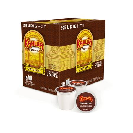 Kahlua Coffee Keurig Single-Serve K-Cup Pods, Light Roast Coffee, 18 Count