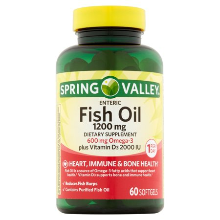 Spring valley fish oil dietary supplement 1200mg softgel for Spring valley fish oil review