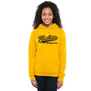 Michigan Tech Huskies Women's Classic Wordmark Pullover Hoodie - Yellow