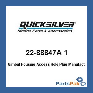 Mercury - Mercruiser 22-88847A 1 Mercury Quicksilver 22-88847A 1 Gimbal Housing Access Hole Plug- ()