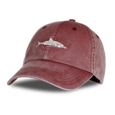 Unisex Fashion Cartoon Shark Embroidery Sports Hat Adjustable Baseball Cap 1 adjustable