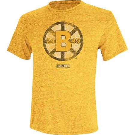 "Boston Bruins CCM ""Retro Logo"" Distressed Premium Tri-Blend T-Shirt"