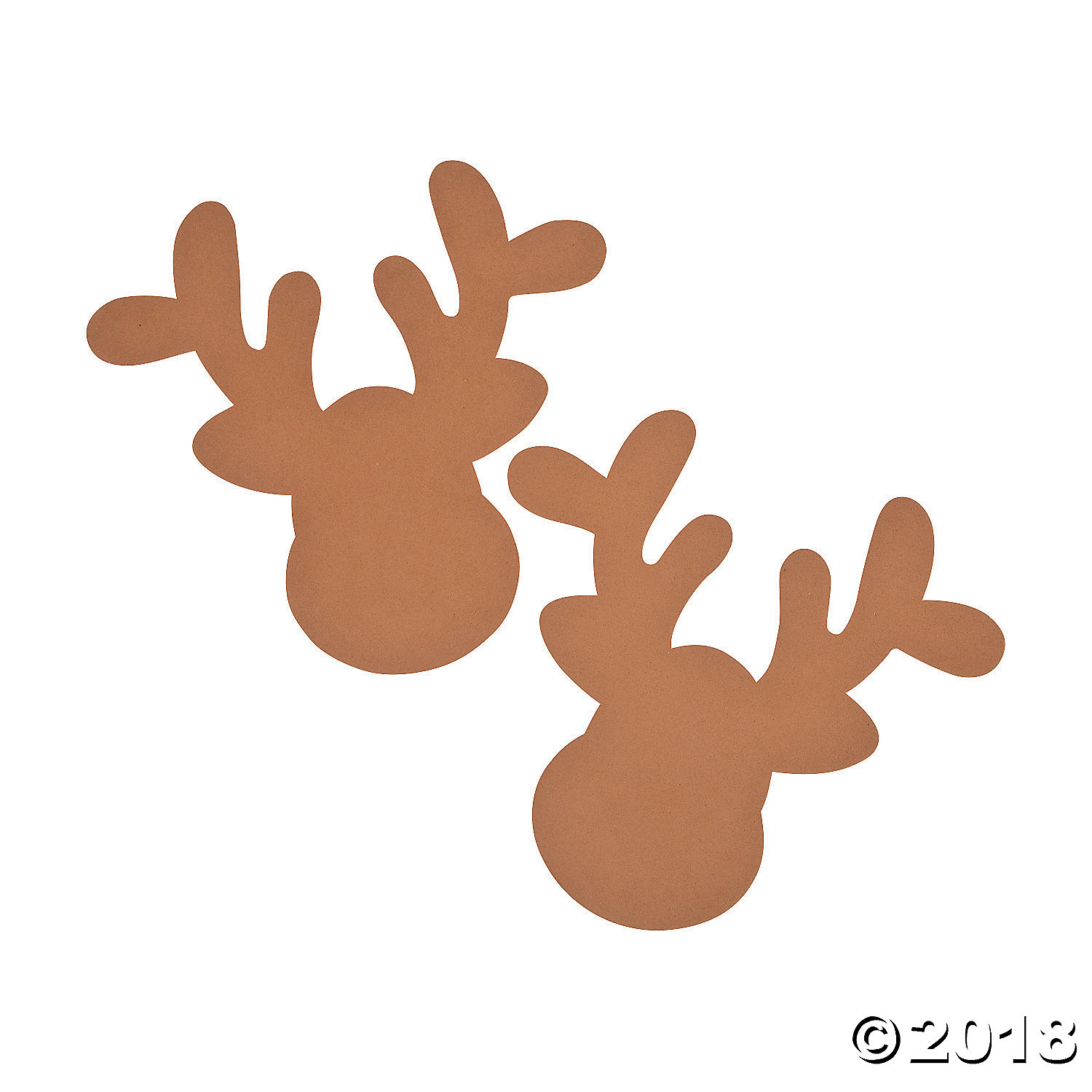 Jumbo Reindeer Head Shapes(pack of 1)
