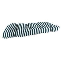 Jordan Manufacturing 44 in. Wicker Loveseat Outdoor Seat Cushion - Stripe Oxford