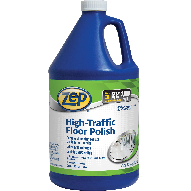 Zep Commercial, ZPE1044999, High-Traffic Floor Polish, 1 Each, Clear,Green