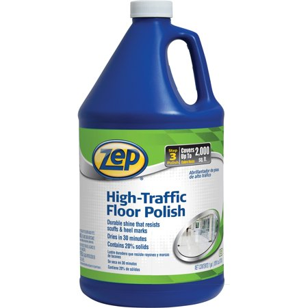 Zep Commercial, ZPE1044999, High-Traffic Floor Polish, 1 Each, Clear,Green for $<!---->