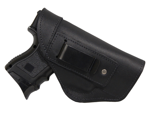 Barsony Right Black Leather IWB Holster Size 16 Beretta Glock HK S&W Springfield Compact 9 40 45 by Barsony Holsters & Belts