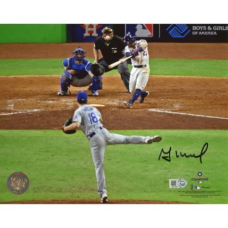 "Jose Altuve Houston Astros 2017 MLB World Series Champions Autographed 8"" x 10"" Photograph - Fanatics Authentic Certified"
