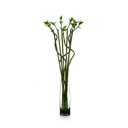 Distinctive Designs Silk Lucky Bamboo Floor Plant In Decorative Vase