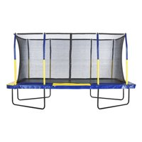 Upper Bounce Easy Assemble Rectangular Trampoline w/ Fiber Flex Enclosure System