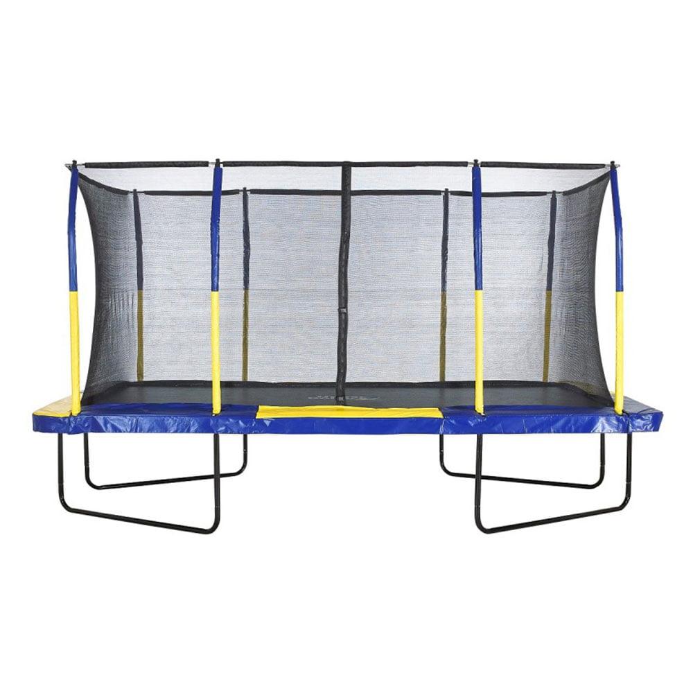 Upper Bounce Easy Assemble Rectangular Trampoline w/ Fiber Flex Enclosure System