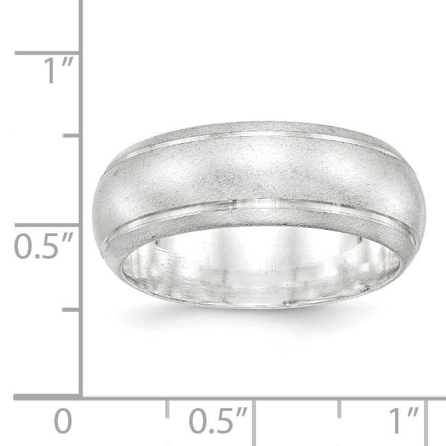 925 Sterling Silver 8mm Finish Wedding Ring Band Size 9.00 Classic Fine Jewelry Gifts For Women For Her - image 1 de 2