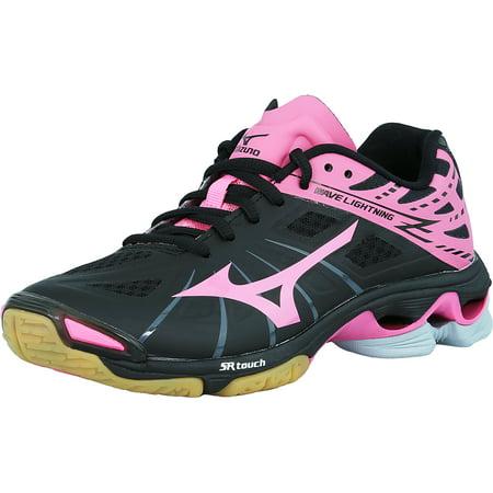 (Mizuno Women's Wave Lightning Z Black / Pink Grey Ankle-High Volleyball Shoe - 8.5M)