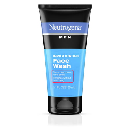 Neutrogena Men Oil-Free Invigorating Foaming Face Wash, 5.1 Fl. Oz