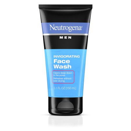 (2 pack) Neutrogena Men Daily Invigorating Foaming Gel Face Wash, 5.1 fl.