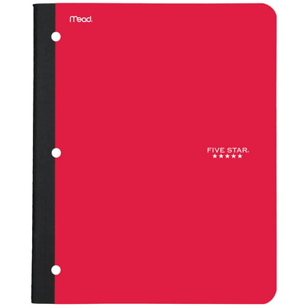 Five Star Wireless Notebook with Pocket, 1 Subject, College Ruled, Assorted Colors (96672 Wireless Notebook)