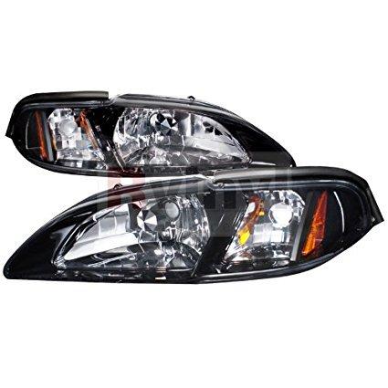 Spec-D Tuning Ford Mustang 1994 1995 1996 1997 1998 Euro Headlights - Smoke Lens ()