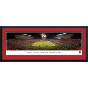 """Rutgers Scarlet Knights 18"""" x 44"""" Deluxe Frame Panorama Wall Art"""