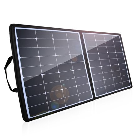 Fi Shock Solar Shock - Poweradd 100W Waterproof Solar Charger 18V 12V Sunpower Solar Panel Shock Foldable Solar Panel for Laptop, Macbook, iPhone, Samsung, Generator, ChargerCenter