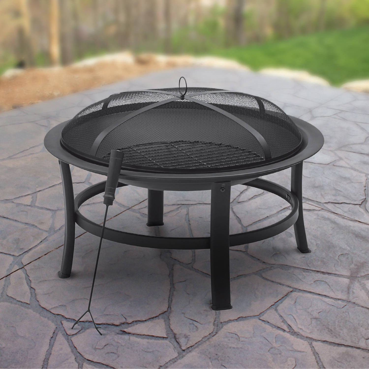 "Mainstays 30"" Fire Pit, Black"