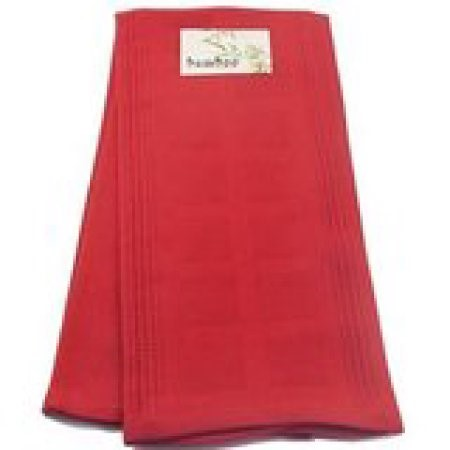 Big Kitchen Bamboo and Cotton Kitchen Towel, Red by Harold Import Company