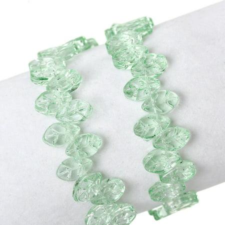 Sexy Sparkles 1 Strand Glass Loose Beds Leaf Shape 7mm,13