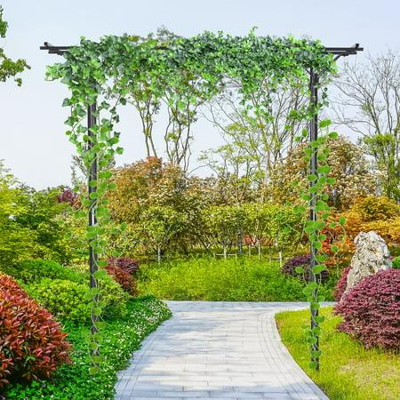 82â Decorative Metal Garden Trellis Arbor For Backyard Celebrations Black