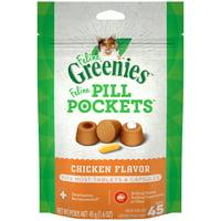FELINE GREENIES PILL POCKETS Natural Cat Treats, Chicken Flavor, 1.6 oz. Pack (45 Treats)