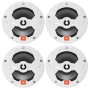 "2 Pairs of JBL OEM Replacement 6.5"" 2-Way Marine Audio Multi-Element Speakers (White)"