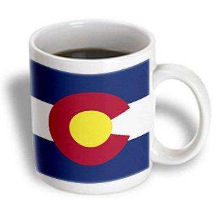 3dRose State Flag of Colorado (PD-US), Ceramic Mug, (Colorado Rockies Mug)