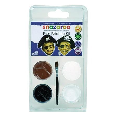 RubyRedPaint Pirate Mini Face Painting Clam Shell Kit (Set of 2)