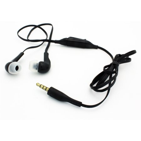 Compatible With Samsung Galaxy S10e S10+ S10 - Sound Isolating Hands-free Headset Earphones Earbuds Mic Dual Headphones Earpieces Tangle Free Flat Wired 3.5mm [Black] - Earphones Earpieces