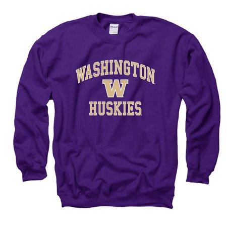 University Of Washington Huskies Crew-Neck Sweatshirt-Purple