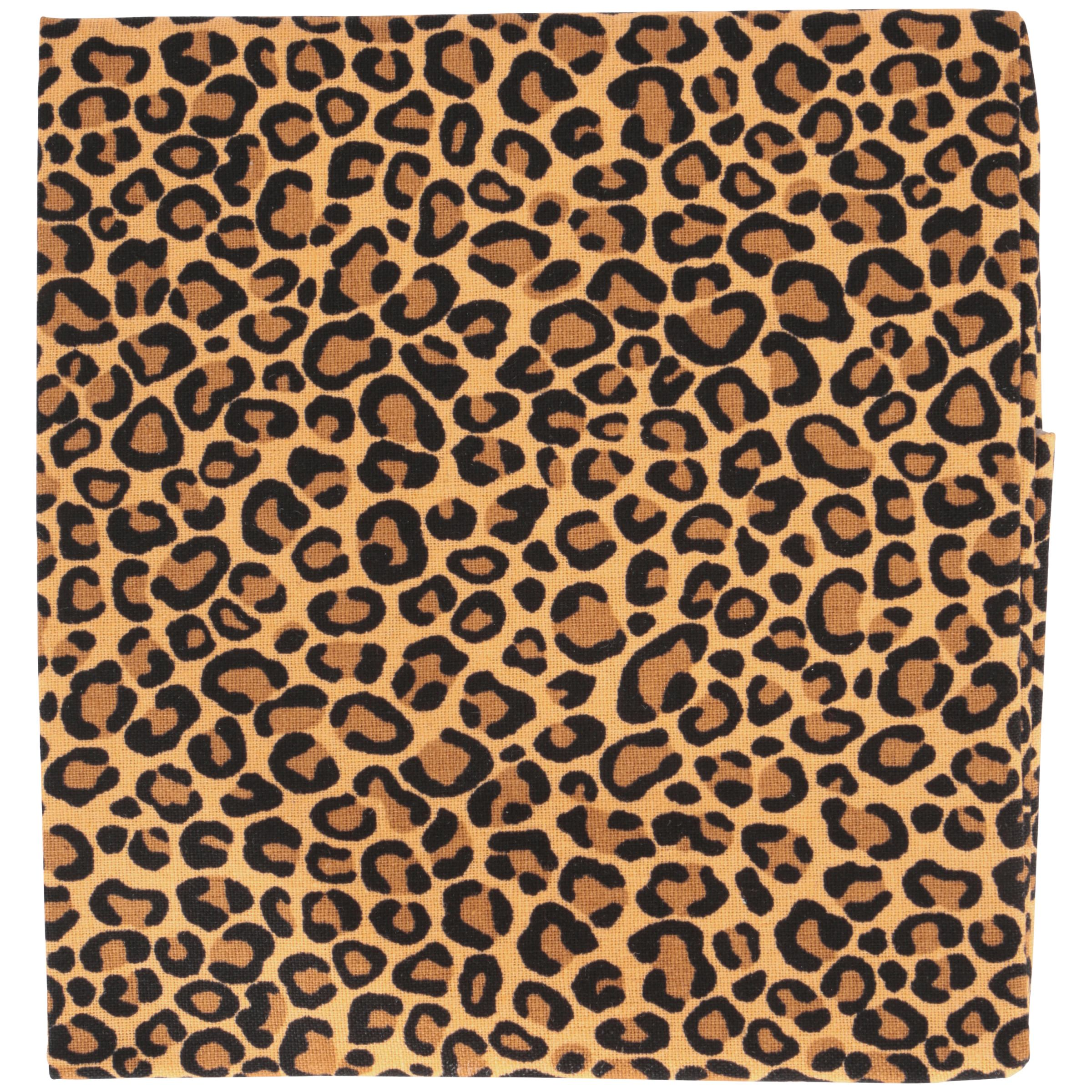 "Fabric Editions- Cotton Fabric, Fat Quarter, 18"" x 21"" CHEETAH GINGER"