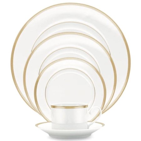 Noritake Gold Dinnerware - Noritake Pembroke Gold 5-Piece Place Setting