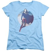Supergirl Cloudy Circle Womens Short Sleeve Shirt