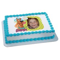 1/4 Sheet Scooby-Doo! Photobomb! Photo Frame Edible Cake Image