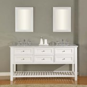 Direct Vanity Sink Mission Spa Collection 70-in. Double Bathroom Vanity - White