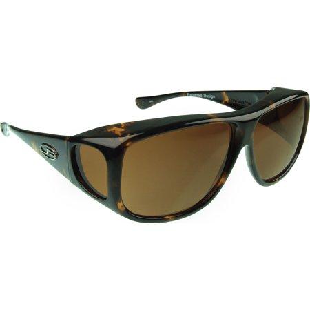 Fitovers Eyewear Aviator Sunglasses, Tortoiseshell, Polarvue Amber… (Aviator Sonnenbrille Mit Seitenschutz)