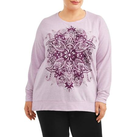 a35074c1b53 Terra   Sky - Women s Plus Size Graphic Raglan Long Sleeve T-Shirt -  Walmart.com