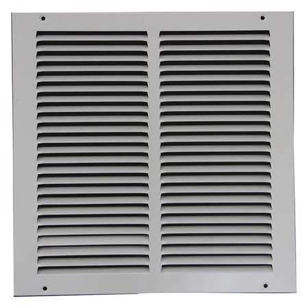 "Return Air Grille,12x12"",White ZORO SELECT 4JRR8"