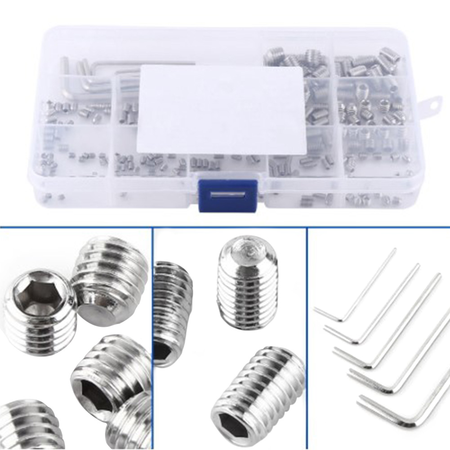 240Pcs M3//M4//M5//M6//M8 Stainless Steel Hex Socket Button Head Screws Bolt Kit