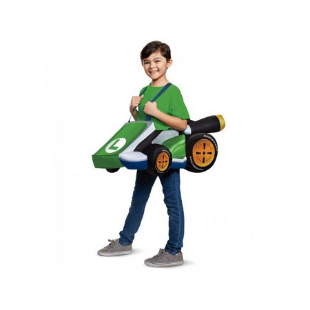 Child Luigi Kart Costume - Super Mario Bros - Super Mario Kids Costume