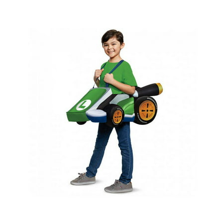 Child Luigi Kart Costume - Super Mario Bros
