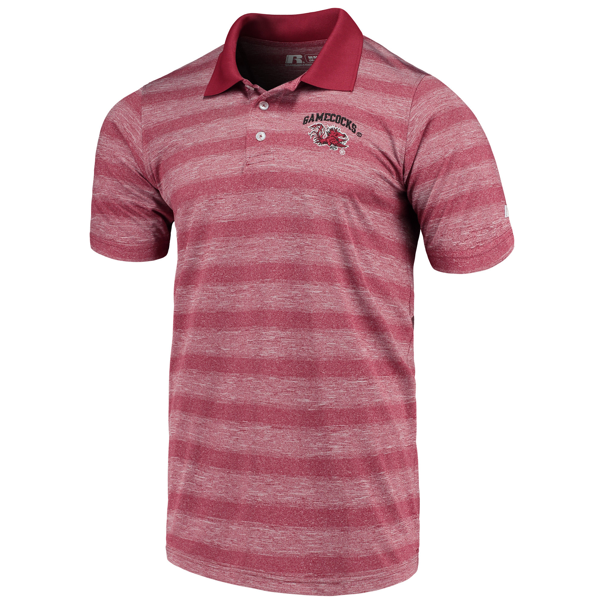 Men's Russell Garnet South Carolina Gamecocks Classic Striped Polo