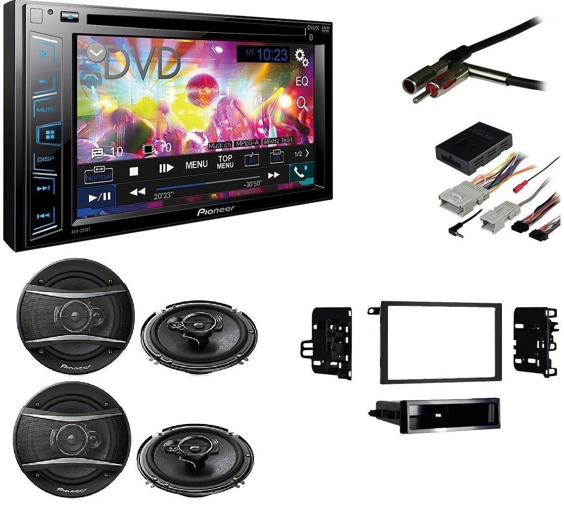 Chevy Colorado 2004-2012 Double DIN Stereo Harness Radio Install Dash Kit