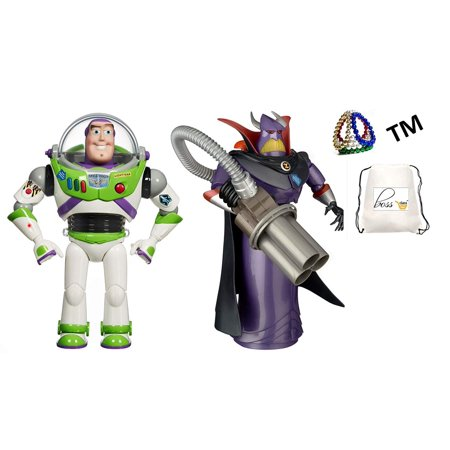 "POG Kids Boys (Bonus Exclusive Al La Frantiea TM) Toy Story 12.5"" Buzz Lightyear and 14"" Emperor Zurg Talking Action Figures"